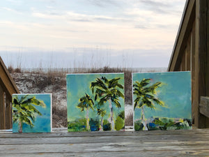'Hello Gorgeous' Original Painting: Palm Tree Collection