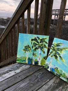 Tropical Breeze. Original Painting: Palm Tree Collection