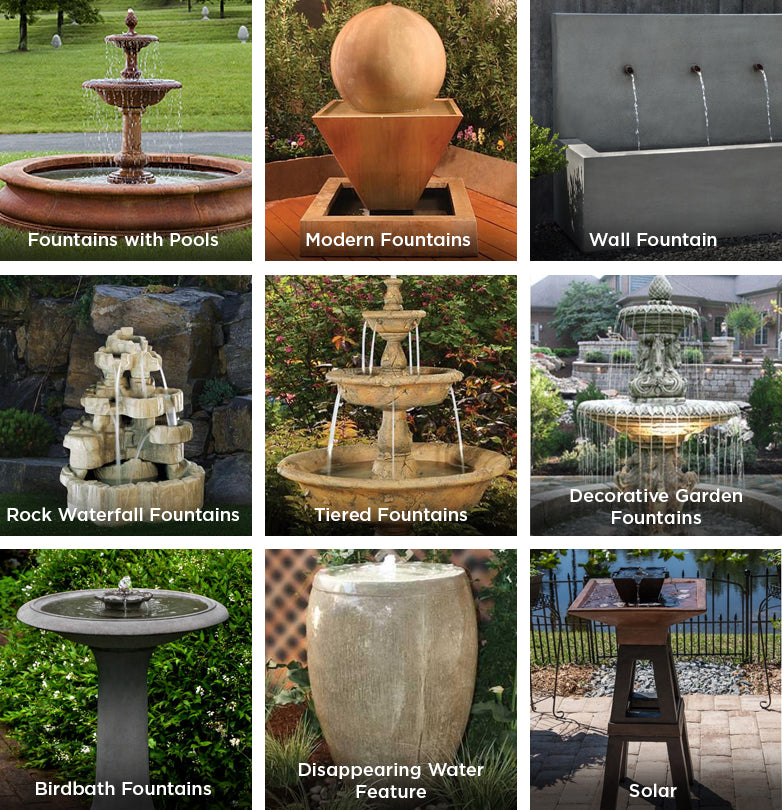 Outdoor Garden, Modern, Rocky Water Falls, Disappearing Water Features, Tiered, Garden Fountains