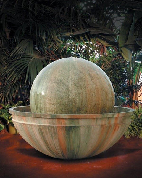 Ball And Bowl Outdoor Water Fountain