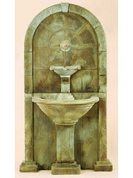 Amalfi Wall Outdoor Water Fountain for Spout - Outdoor Fountain Pros