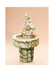 Garden Girl Cast Stone Fountain - Outdoor Fountain Pros