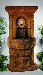 Linari Lion Fountain, Wall Outdoor Fountains - Outdoor Fountain Pros