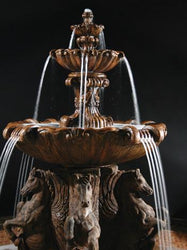 2-Tier Cavalli Outdoor Water Fountain for Pond - Outdoor Fountain Pros