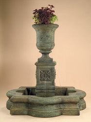 Chambers Outdoor Fountain With Quatrefoil Basin - Outdoor Fountain Pros