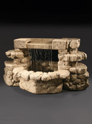 Rainbow Falls Cast Stone Outdoor Fountain, Large Outdoor Fountains - Outdoor Fountain Pros