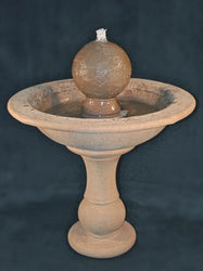 Tall Garden Sphere Cast Stone Fountain Garden Outdoor Fountains - Outdoor Fountain Pros