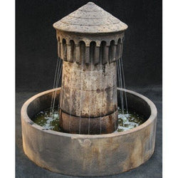 Bastia Cast Stone Outdoor Fountain - Small, Garden Outdoor Fountains - Outdoor Fountain Pros