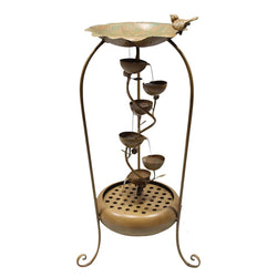 Gold 6 Leaf Tier Fountain - Outdoor Fountain Pros