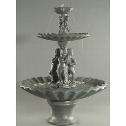 3 Water Nymphs Outdoor Water Fountain, Tiered Outdoor Fountains - Outdoor Fountain Pros