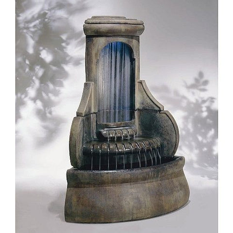 Falling Diamonds Outdoor Corner Fountain, Garden Outdoor Fountains - Outdoor Fountain Pros