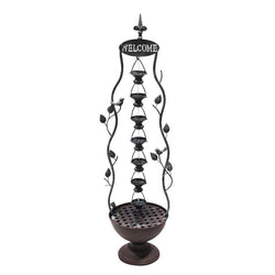 Hanging Cup Tier Layered Floor Fountain - Outdoor Fountain Pros