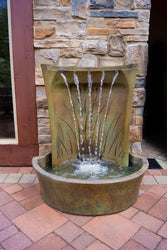 Aria Cast Stone Outdoor Fountain, Wall Outdoor Fountains - Outdoor Fountain Pros
