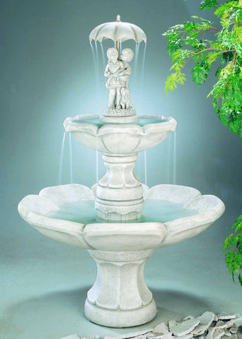 April Showers Tiered Garden Fountain, Tiered Outdoor Fountains - Outdoor Fountain Pros
