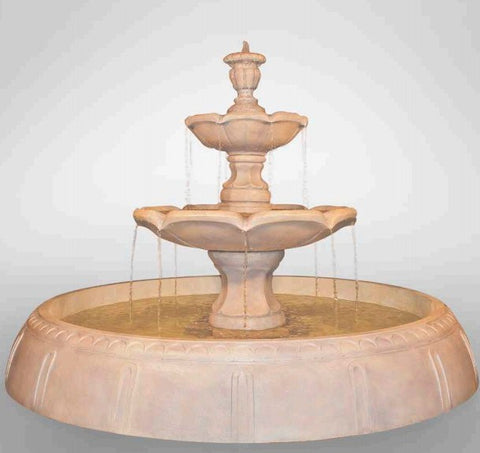 Finial Fountain in Perpetual Pool, Tiered Outdoor Fountains - Outdoor Fountain Pros