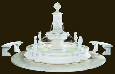 Grande Tower Millennia Fountain, Large Outdoor Fountains - Outdoor Fountain Pros