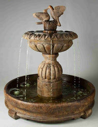 Paloma Cascada in Rondo Pool Fountain, Garden Outdoor Fountains - Outdoor Fountain Pros