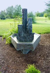 Basalt Modern Garden Fountain, Garden Outdoor Fountains - Outdoor Fountain Pros