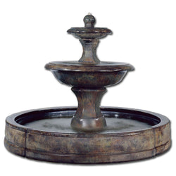 Barrington Tiered  Outdoor Fountain in Valencia Pool - Outdoor Fountain Pros