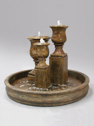 Elegant Urn Trio Outdoor Water Fountain, Urn Outdoor Fountains - Outdoor Fountain Pros