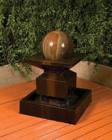 Alaster With Ball Garden Water Fountain, Garden Outdoor Fountains - Outdoor Fountain Pros
