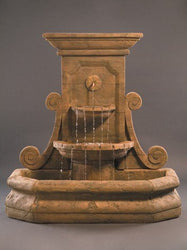 Grande Volute Wall Outdoor Fountain, Wall Outdoor Fountains - Outdoor Fountain Pros