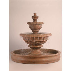 Roma Tiered Outdoor Fountain With 74 Inch Basin, Tiered Outdoor Fountains - Outdoor Fountain Pros