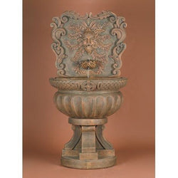 Green Man Outdoor Wall Fountain, Wall Outdoor Fountains - Outdoor Fountain Pros