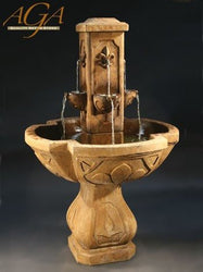 Fleur De Lis Outdoor Water Fountain, Garden Outdoor Fountains - Outdoor Fountain Pros