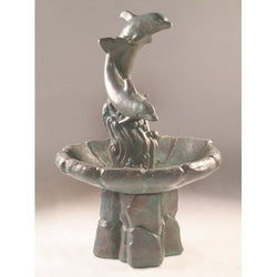 Dolphins Garden Water Fountain, Garden Outdoor Fountains - Outdoor Fountain Pros