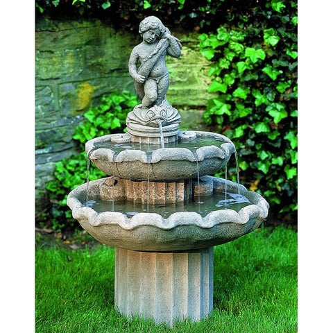 Amalfi Two Tier Garden Water Fountain, Tiered Outdoor Fountains - Outdoor Fountain Pros
