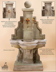 Arles Wall Cast Stone Fountain - Outdoor Fountain Pros