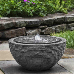 Arroyo Stone Ledge Garden Fountain - Outdoor Fountain Pros