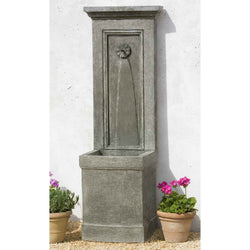 Auberge Garden Water Fountain, Wall Outdoor Fountains   Outdoor Fountain  Pros