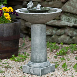 Aya Bird Water Fountain, Garden Outdoor Fountains - Outdoor Fountain Pros