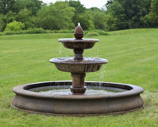 Beaufort Outdoor Water Fountain with Pool, Large Outdoor Fountains - Outdoor Fountain Pros