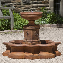 Beauvais Water Fountain with Basin, Garden Outdoor Fountains - Outdoor Fountain Pros