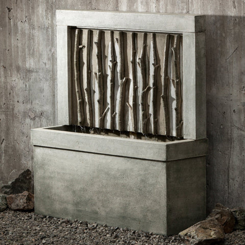 Birches Wall Garden Water Fountain, Wall Outdoor Fountains - Outdoor Fountain Pros
