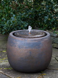 Boden Glazed Garden Fountain in Bronze - Outdoor Fountain Pros