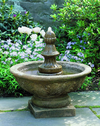 Bordine Finial Garden Water Fountain, Garden Outdoor Fountains - Outdoor Fountain Pros