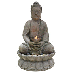 Buddha Water Feature With LED Lights - Outdoor Fountain Pros