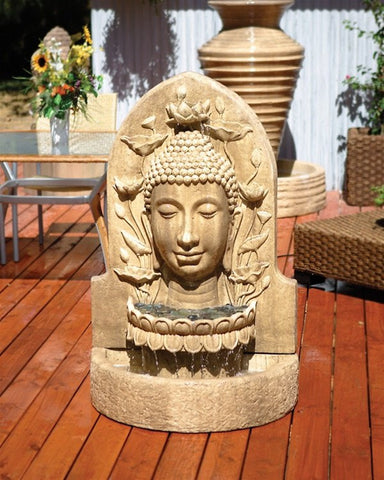 Buddha Garden Water Fountain, Garden Outdoor Fountains - Outdoor Fountain Pros