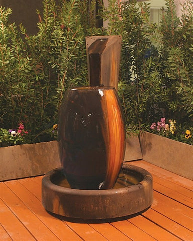 Canister Garden Water Fountain, Urn Outdoor Fountains - Outdoor Fountain Pros