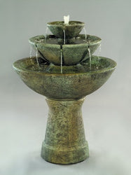 3-Tier Color Bowl with Lips Fountain - Tall - Outdoor Fountain Pros