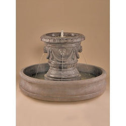 Classico Pot with Lion Heads Outdoor Fountain, Urn Outdoor Fountains - Outdoor Fountain Pros