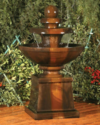 Cresere Garden Water Fountain, Tiered Outdoor Fountains - Outdoor Fountain Pros
