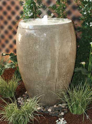 Cardiff Cast Stone Fountain with 2' Reservoir - Outdoor Fountain Pros