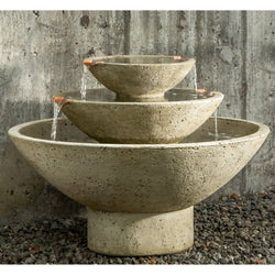 Carrera Tiered Garden Water Fountain, Tiered Outdoor Fountains - Outdoor Fountain Pros