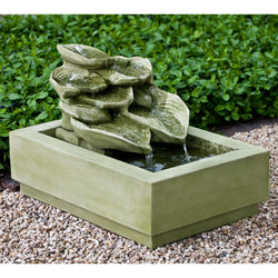 Cascading Hosta Garden Water Fountain, Garden Outdoor Fountains - Outdoor Fountain Pros