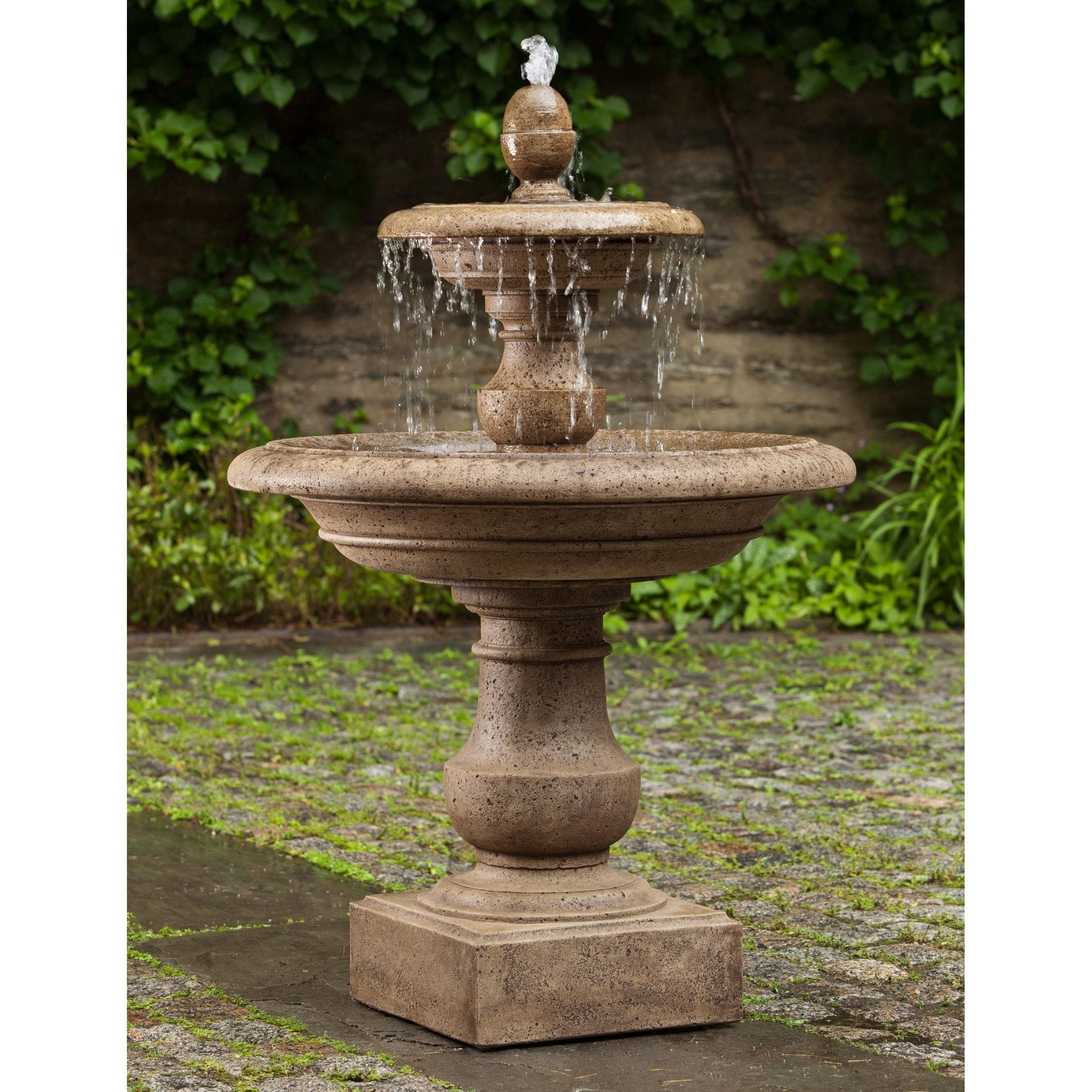 Caterina Tiered Garden Water Fountain, Tiered Outdoor Fountains   Outdoor  Fountain Pros